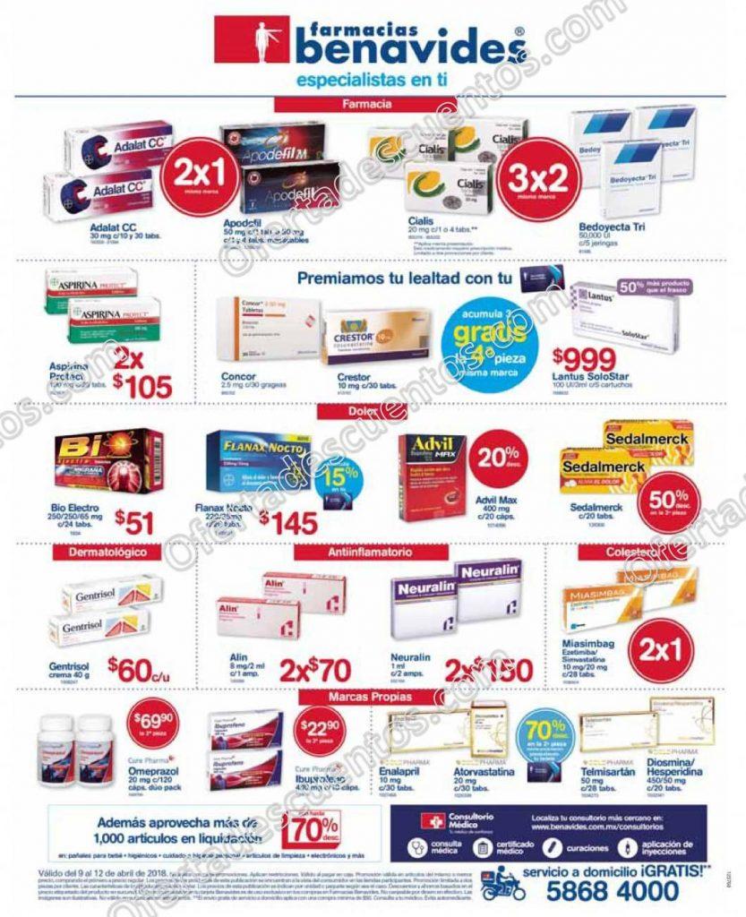 Farmacias Benavides: Promociones de la Semana del 9 al 12 de abril