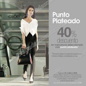 Cloe: 40% de descuento en tu segunda compra en mercancía marcada con punto plateado