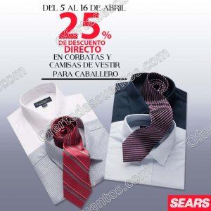 Sears: 25% de descuento en corbatas y camisas de vestir para caballero
