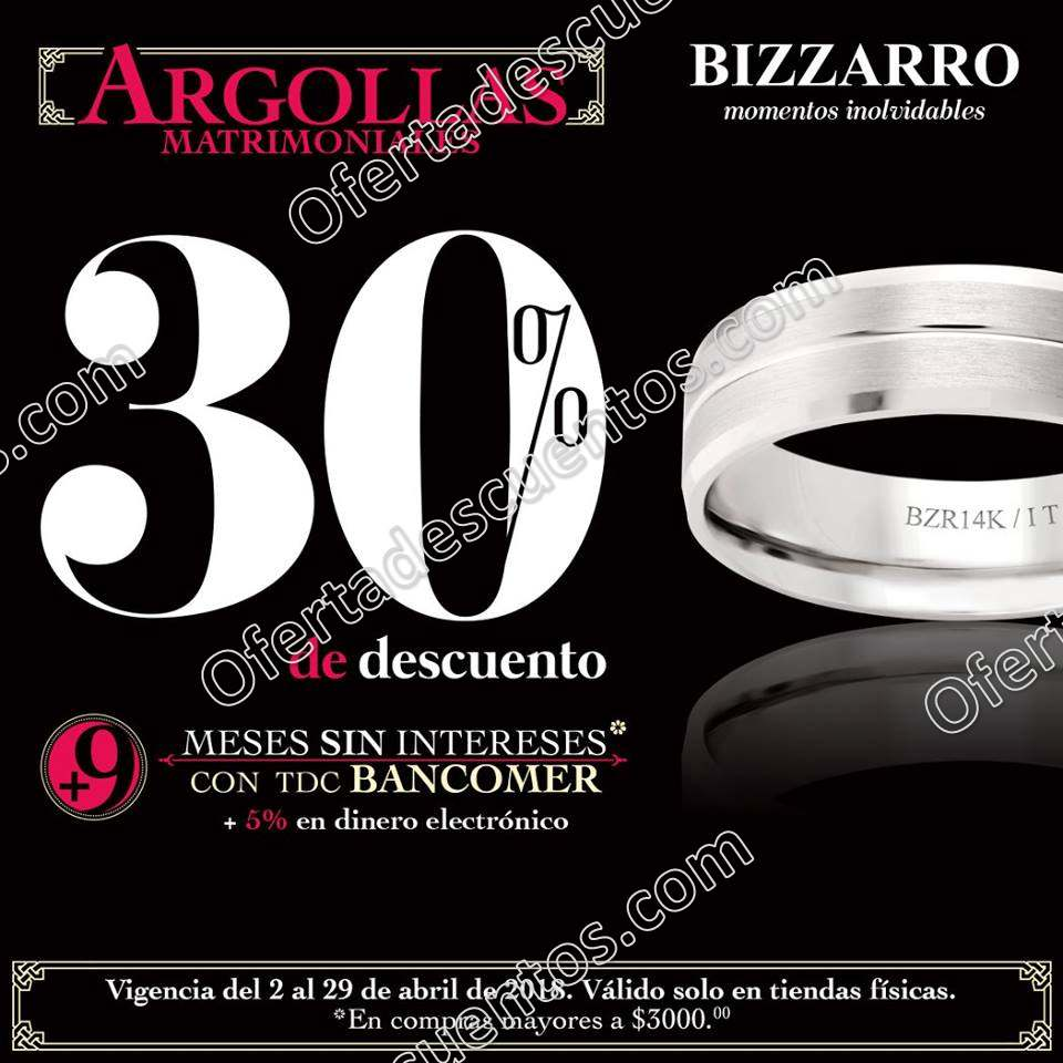 Bizzarro: Promociones Abril 2018
