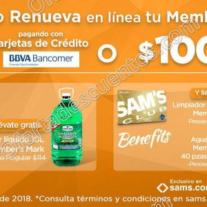 Sams Club: Hazte Socio o Renueva en línea y obtén $150 o $100 de descuento más regalos
