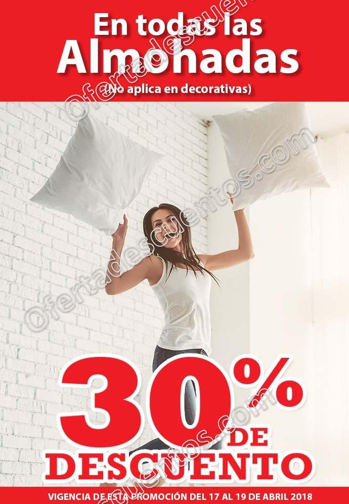 Soriana: 30% de descuento en almohadas y más 18 y 19 de abril 2018