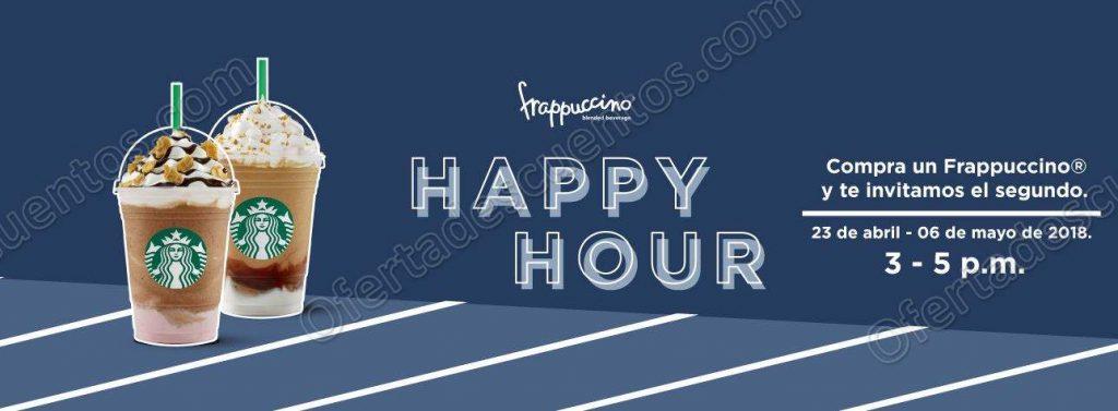 Starbucks: Happy Hour 2×1 en Frappuccino de 3:00 a 5:00 pm