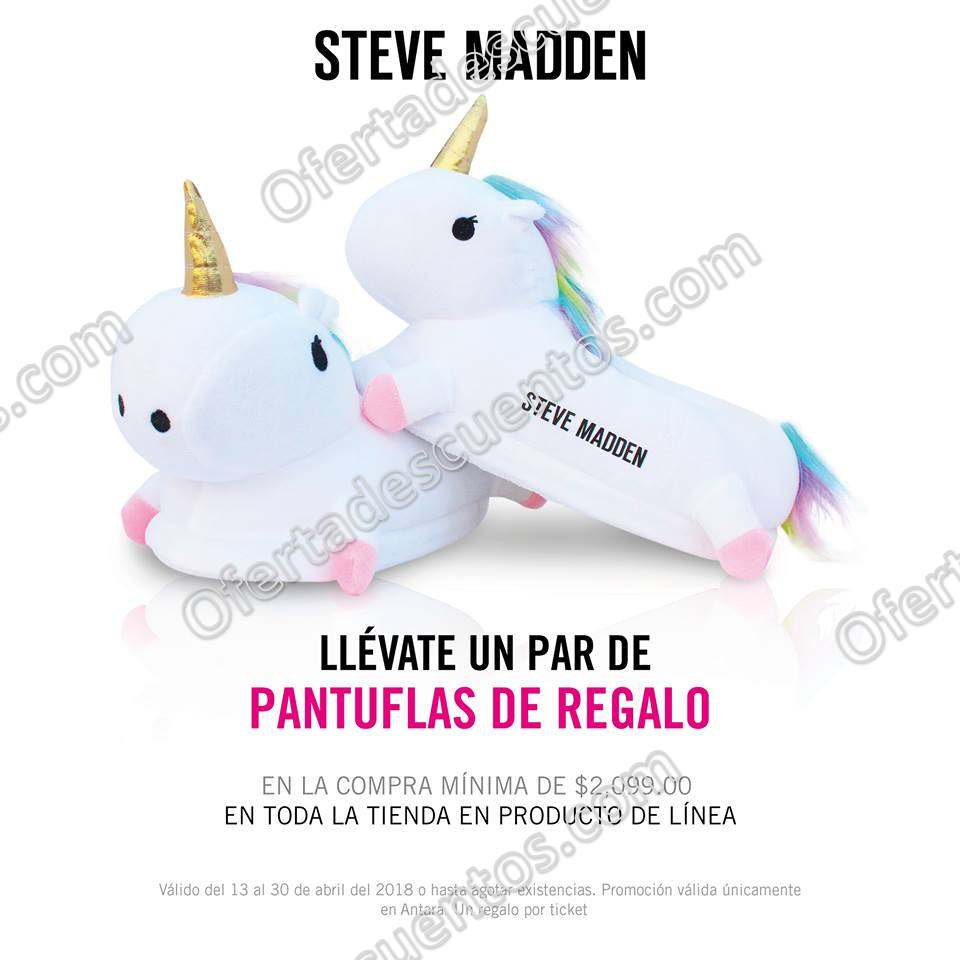 Steve Madden: Pantuflas de regalo en tus compras en toda la tienda