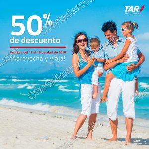 TAR Aerolíneas: 50% de descuento en vuelos del 17 al 19 de abril