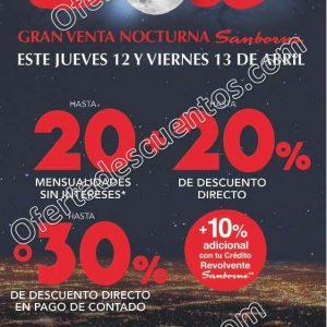 Venta Nocturna Sanborns 12 y 13 de Abril 2018