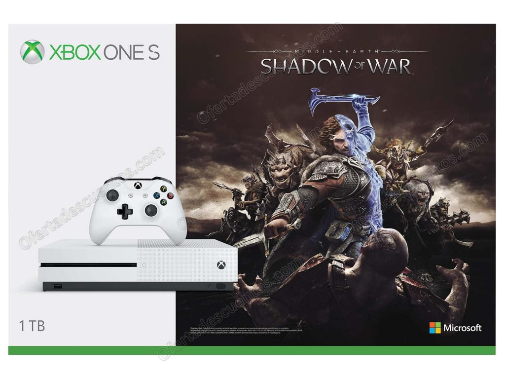 Venta Nocturna Liverpool: Consola Xbox One S Shadow of War 1 TB $5,524