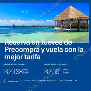 Aeromexico: Jueves de Precompra Vuelos Redondos desde $1,599