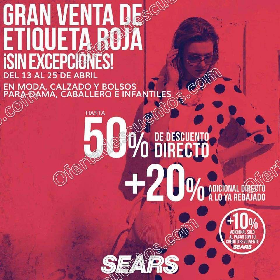 Sears: Gran Venta de Etiqueta Roja el 13 al 25 de Abril 2018