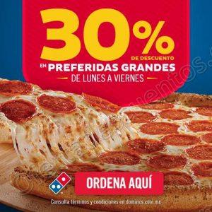 Domino's Pizza: 30% de Descuento en Preferidas