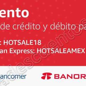 Hot Sale 2018 Amazon: 10% de descuento adicional tarjetas de Crédito y Débito con Banamex, Bancomer y más