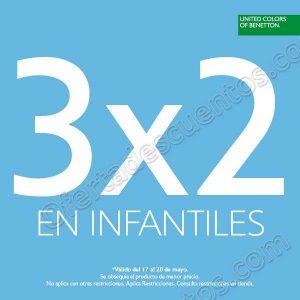 Benetton: 3×2 en toda la línea Infantiles del 17 al 20 de mayo 2018