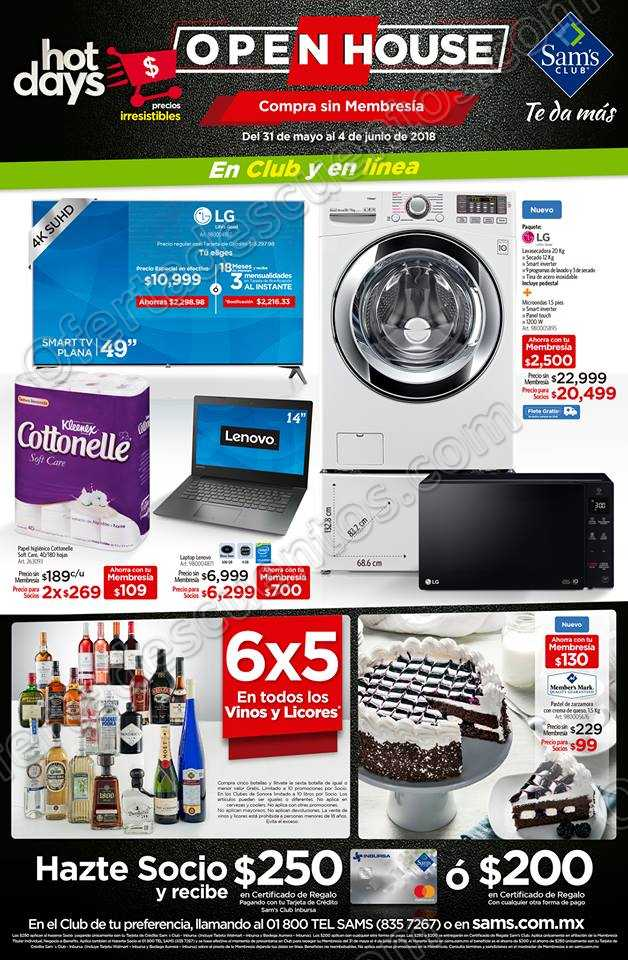 Folleto de Ofertas Open House Sams Club del 31 de mayo al 4 de junio 2018