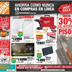 Folleto de Promociones Hot Sale 2018 The Home Depot