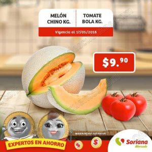 Ofertas Frutas y verduras Soriana Mercado 16 y 17 de Mayo 2018