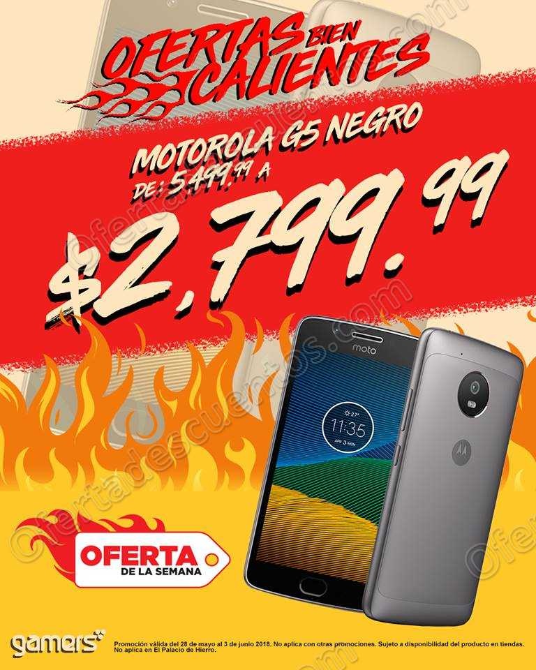 Gamers: Celular Motorola G5 a $2,799