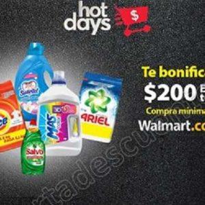 Hot Days 2018 Walmart $200 de bonificación en pedidos de Súper