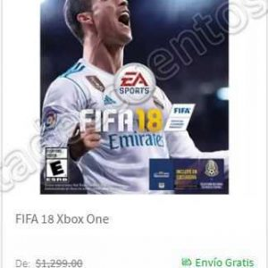Hot Sale Elektra 2018: Fifa 18 para PS4, Xbox One y Xbox 360 a $499