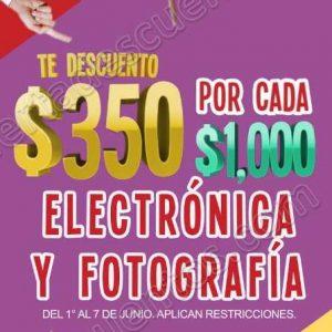 Julio Regalado 2018: $350 de descuento por cada $1,000 de compra en Electrónica y Fotografía