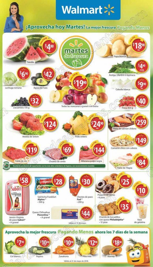 Walmart: Martes de Frescura 15 de Mayo
