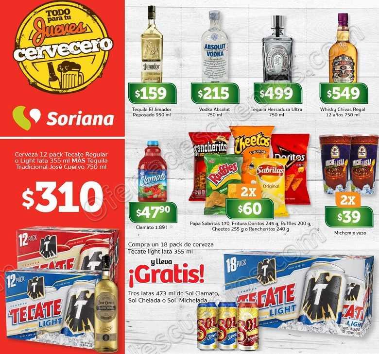 Soriana: Oertas Jueves Cervecero 17 de mayo 2018