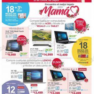 Office Depot: Promociones Regalos para Mamá descuento en computadoras Acer y Lenovo