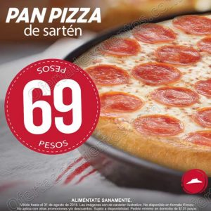 Pizza Hut: Pan Pizza de Sartén mediana a $69