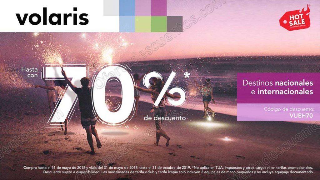 Hot Sale 2018 Volaris: Hasta 70% de descuento en vuelos nacionales e internacionales