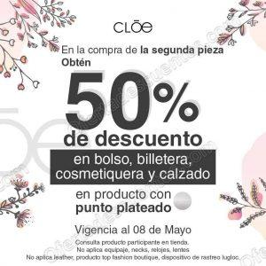 CLOE: 50% de descuento en accesorios y calzado en segunda compra