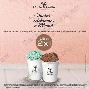 Santa Clara: 2×1 en litros de helado del 7 al 10 de Mayo 2018