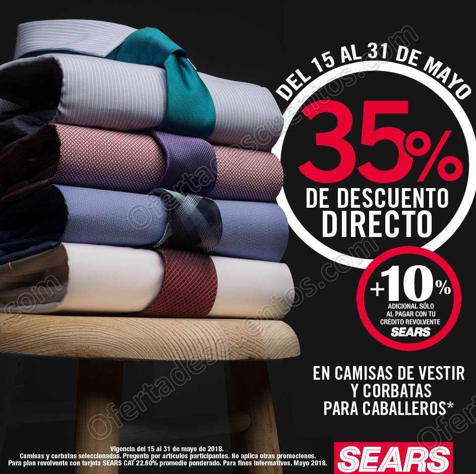 Sears: 35% de descuento en camisas de vestir y corbatas para caballeros