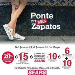 Sears: Hasta 15% de descuento en Calzado para Dama, Caballero e Infantil
