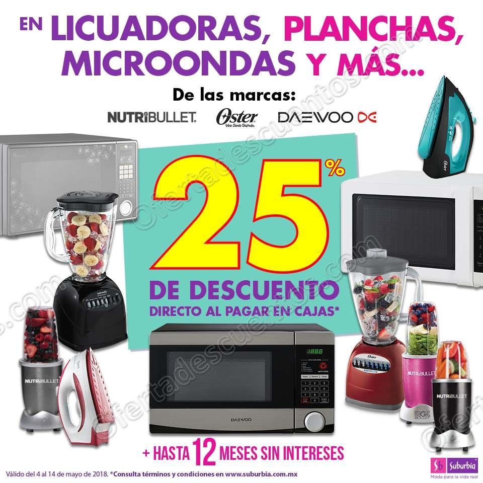 Suburbia: Promociones para el día de las madres 25% de descuento en electrodomésticos y más
