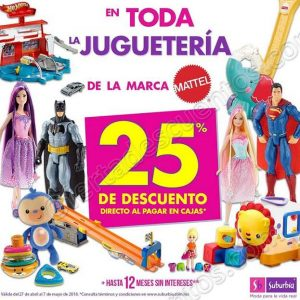 Suburbia: 50% de descuento al comprar una segunda blusa y 25% de descuento en Juguetes