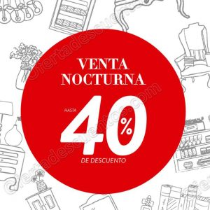 Venta Nocturna The Home Store del 1 al 3 de Junio 2018