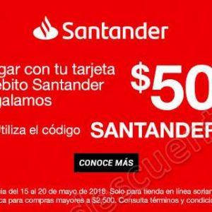Soriana: Cupón $500 Pesos al Pagar con Santander