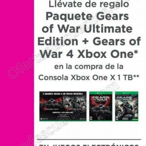 Liverpool: Paquete Gears of War Ultimate Edition + Gear of War 4 al Comprar Xbox One X 1 TB