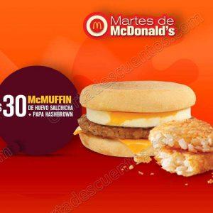 Cupones Martes de McDonald's 15 de Mayo 2018