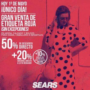 Sears: Gran Venta de Etiqueta Roja 1 de Mayo 2018