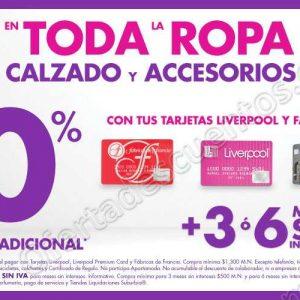 Suburbia: 10% de Descuento en Ropa, Calzado y Accesorios Pagando con Liverpool