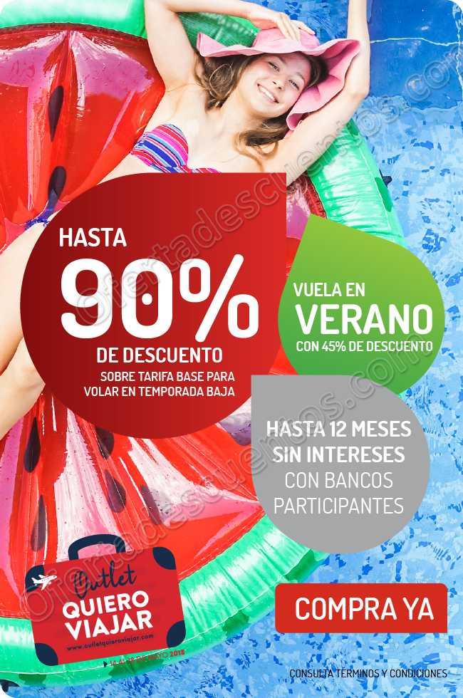 VivaAerobus: Oulet Quiero Viajar Hasta 90% de Descuento