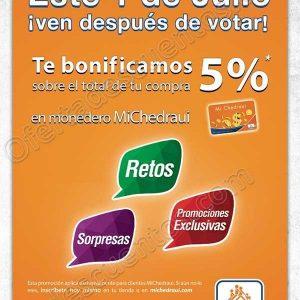 Chedraui: Recibe 5% de bonificación en el total de tu compra si votas este 1 de Julio 2018