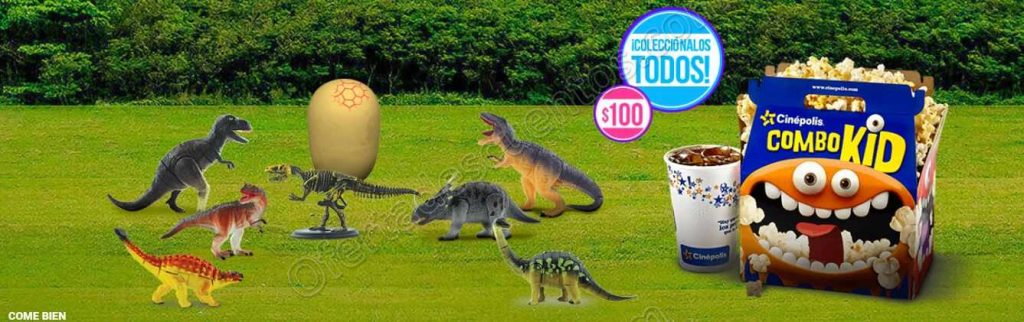 Cinépolis: Combo Kid Palomitas + Refresco + Mini Dinosaurio Jurassic World