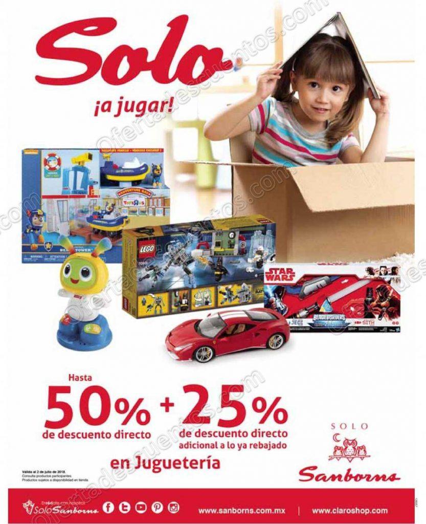 Sanborns: Hasta 50% de descuento más 25% adicional a lo ya rebajado en Juguetería