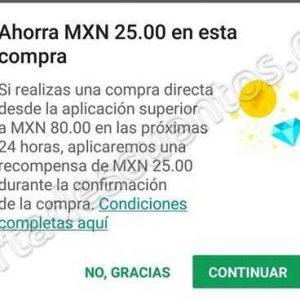 Google Play: Haz una compra de $80 o más y recibe $25 en crédito
