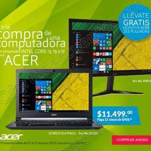 Office Depot: Monitor de 21.5 pulgadas gratis en la compra de una computadora Acer