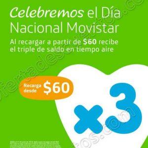 Día Movistar: Triple de Saldo en Recargas de $60 o más
