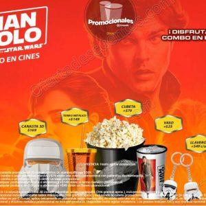 Promocionales Cinépolis: Canastas 3D, Vasos, Llaveros y más de Deadpool 2 y Han Solo