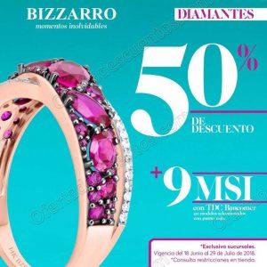 Joyerías Bizzarro: Hasta 50% de descuento del 18 de Junio al 29 de Julio 2018