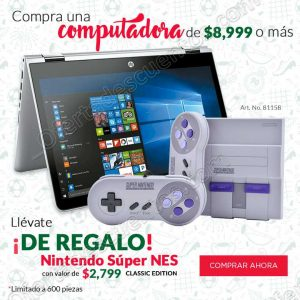 Promociones de Campoenato Office Depot: De REGALO Nintendo Super Nes comprando computadora